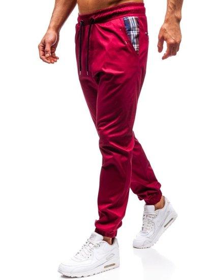 Bordové pánske jogger nohavice BOLF 0449