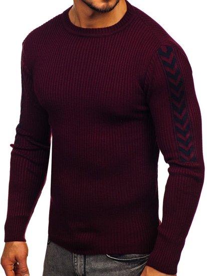 Bordový pánsky sveter Bolf 360