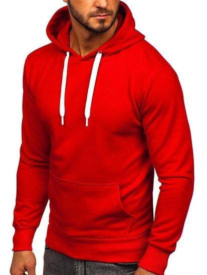 Červená pánska mikina s kapucňou Bolf  1004