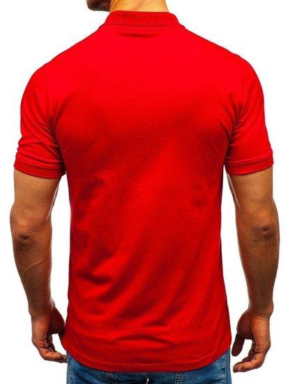 Červená pánska polokošeľa BOLF 9025