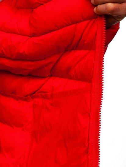 Červená pánska športová prechodná bunda Bolf SM70