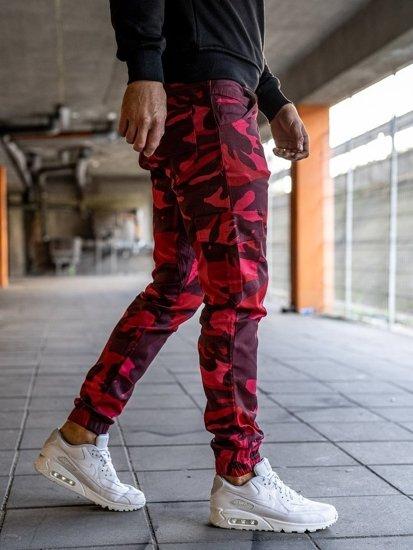 Červené pánske jogger kapsáče BOLF 0404