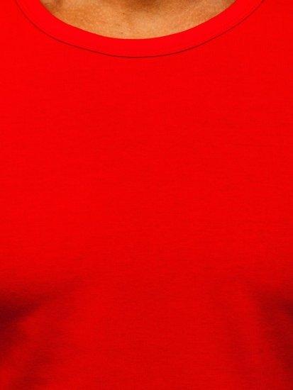 Červené pánske tielko bez potlače Bolf 99001