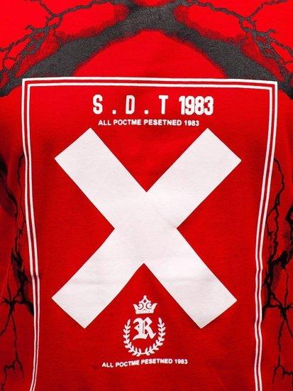 Červené pánske tričko s potlačou BOLF 10875