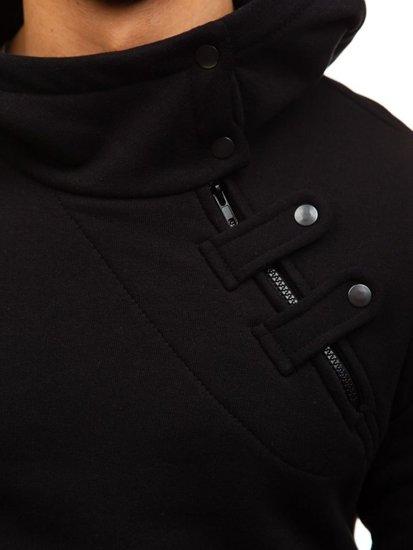 Čierna pánska mikina s kapucňou BOLF 06S
