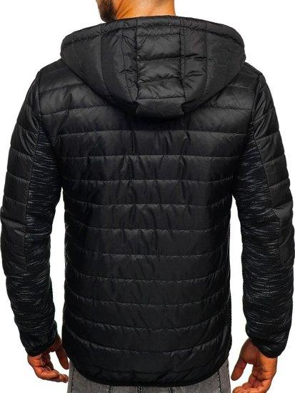 Čierna pánska prechodná bunda Bolf TY27