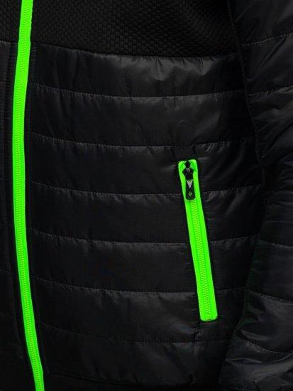 Čierna pánska prechodná bunda Bolf TY31