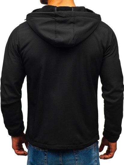 Čierna pánska softshellová bunda BOLF 56003