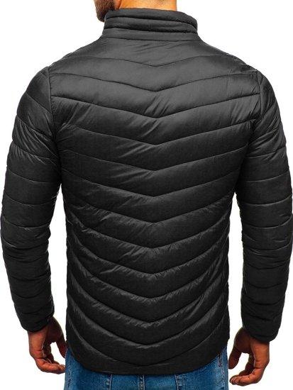 Čierna pánska športová prechodná bunda BOLF LY1015