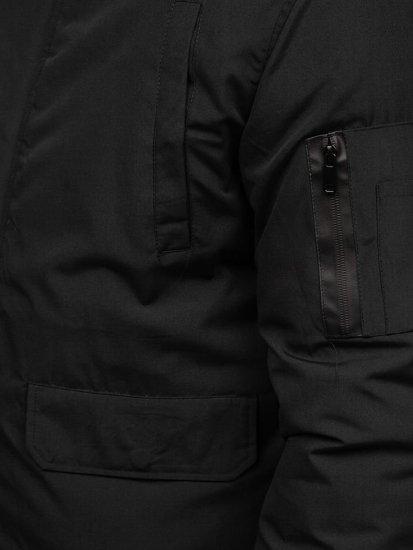 Čierna pánska zimná bunda Bolf 2019