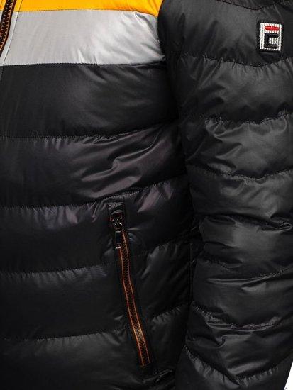 Čierna pánska zimná bunda Bolf 5847