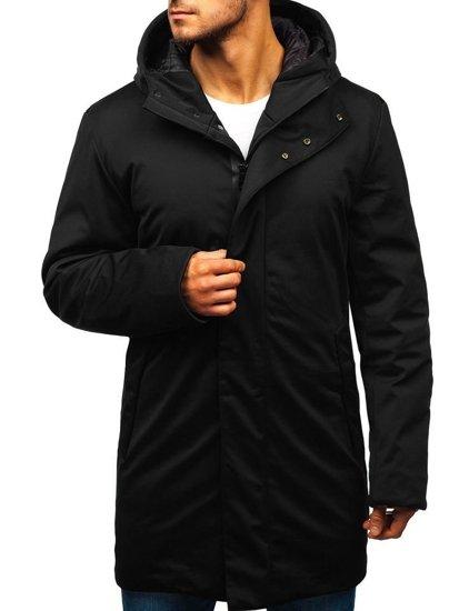 Čierna pánska zimná bunda parka BOLF 5598