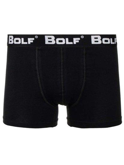 Čierne pánske boxerky BOLF 0953-3P KS