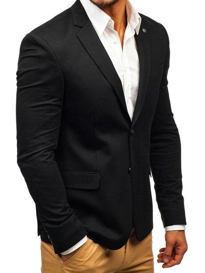 Čierne pánske elegantné sako BOLF 191060
