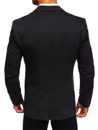 Čierne pánske elegantné sako Bolf Rbr002-A