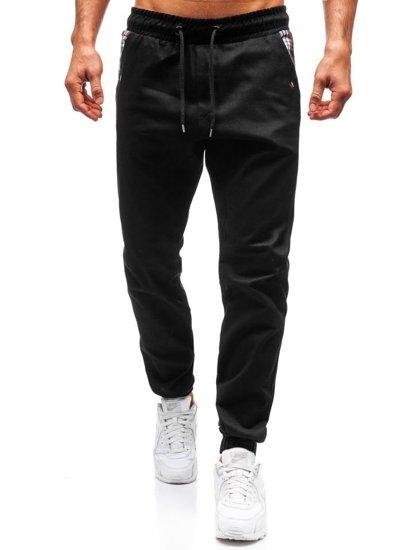Čierne pánske jogger nohavice BOLF 0449
