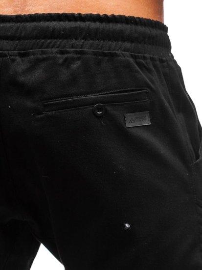 Čierne pánske jogger nohavice BOLF 0952