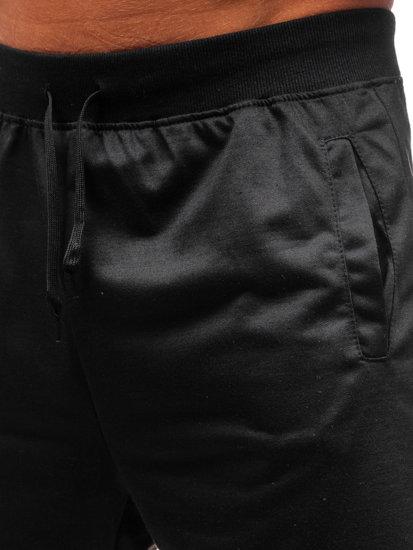 Čierne pánske teplákové kraťasy BOLF DK01