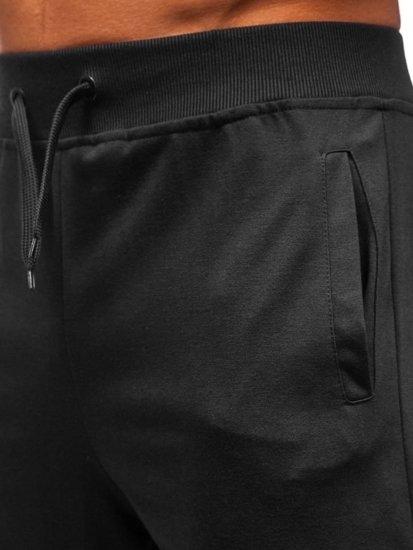 Čierne pánske teplákové kraťasy Bolf AA10-A