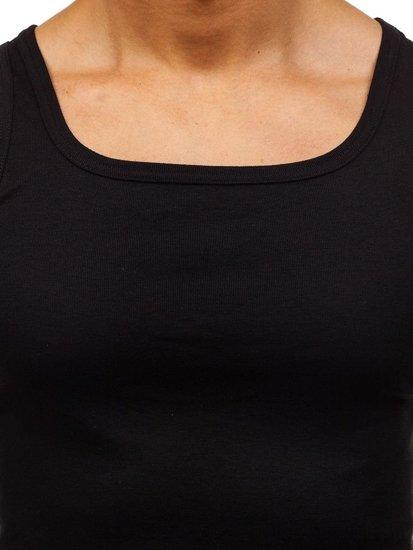 Čierne pánske tričko bez potlače BOLF C10008-A