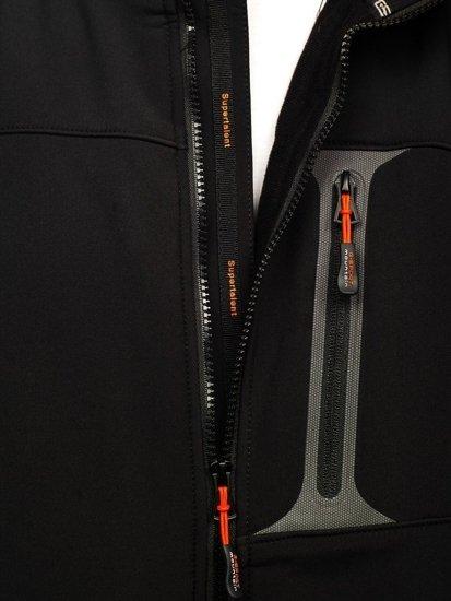 Čierno-oranžová pánska softshellová bunda Bolf 12262
