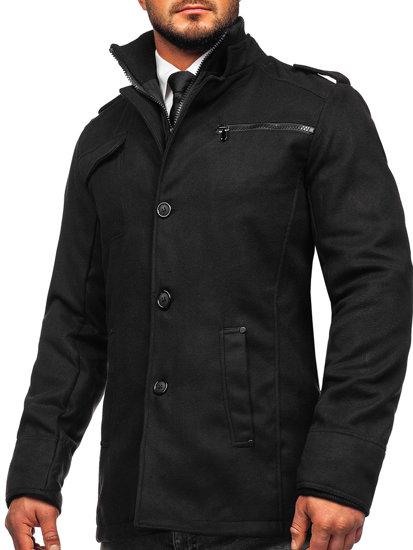 Čierny pánsky kabát BOLF 8856