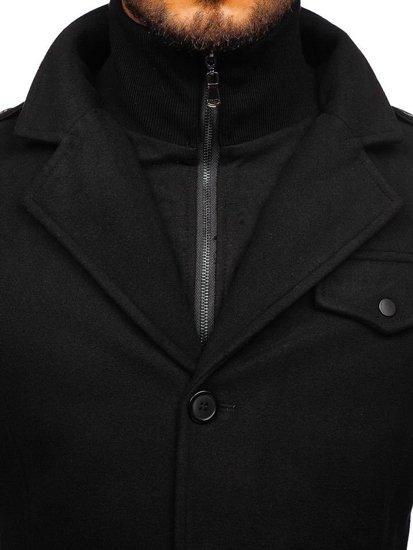 Čierny pánsky kabát Bolf 832