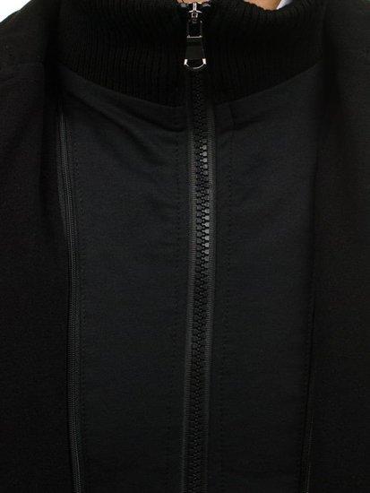 Čierny pánsky plášť BOLF 8853A