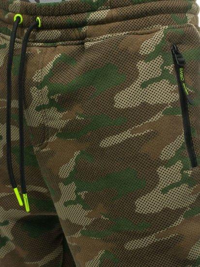 Farebné maskáčové pánske tepláky Bolf 3771C-A