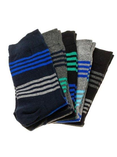 Farebné pánske ponožky BOLF X10027-5P 5 KS