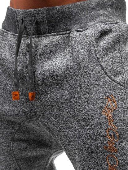 Grafitové pánske teplákové baggy BOLF Q3507