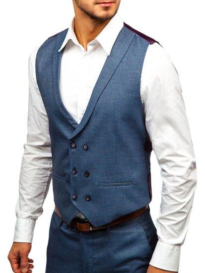 f15eff1d8659 Grafitovo-bordový pánsky oblek s vestou BOLF 18300