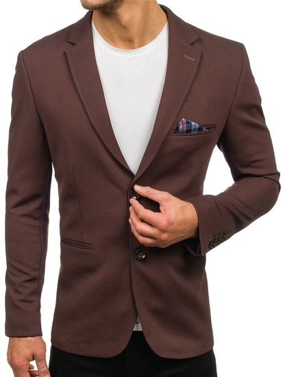 Hnedé pánske elegantné sako BOLF 218