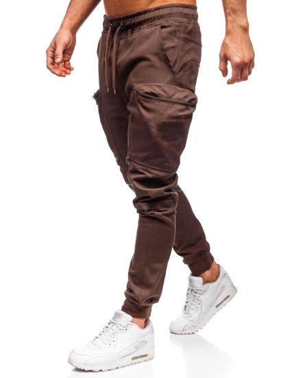 Hnedé pánske kapsáčové joggery Bolf  0475