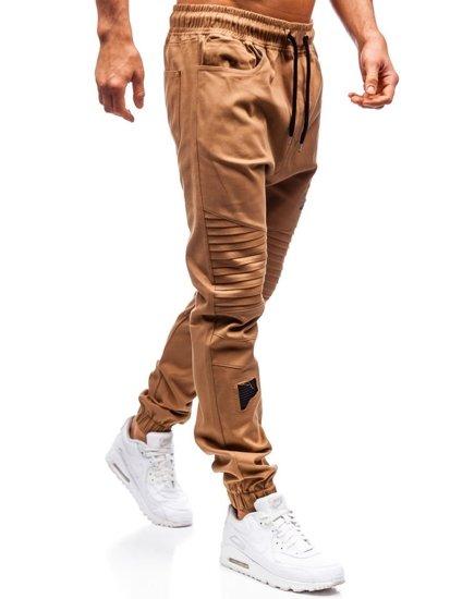 Kamelové pánske jogger nohavice BOLF 0829
