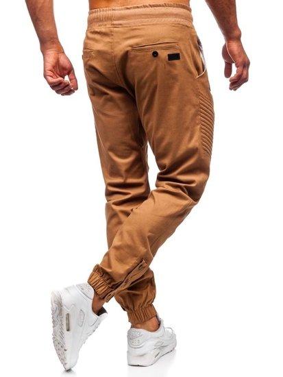 Kamelové pánske jogger nohavice Bolf 0952-A