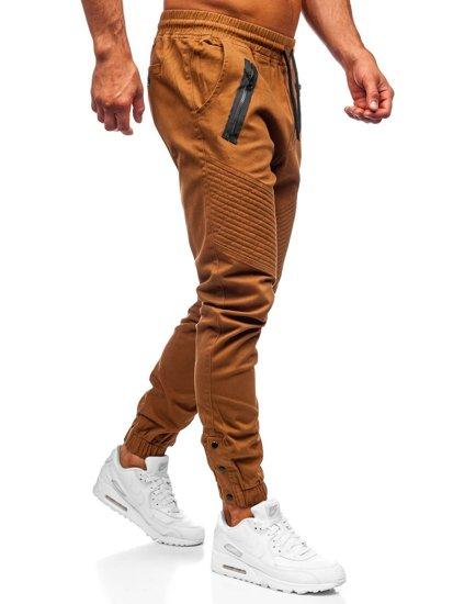 Kamelové pánske joggery Bolf 0952