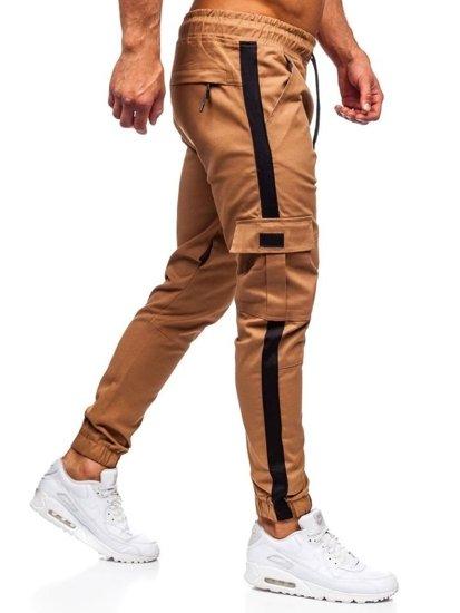 Kamelové pánske kapsáčové joggery Bolf 11117