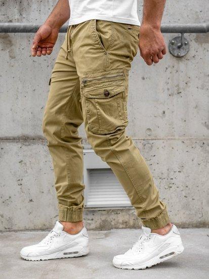 Kamelové pánske kapsáčové joggery Bolf CT6702