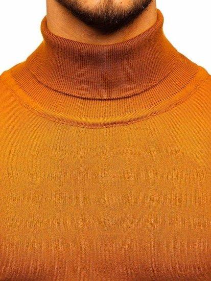 Kamelový pánsky sveter / rolák BOLF 2400