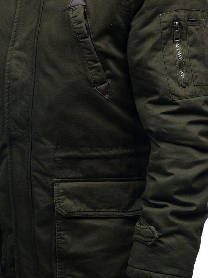 Khaki pánska zimná bunda parka BOLF R107