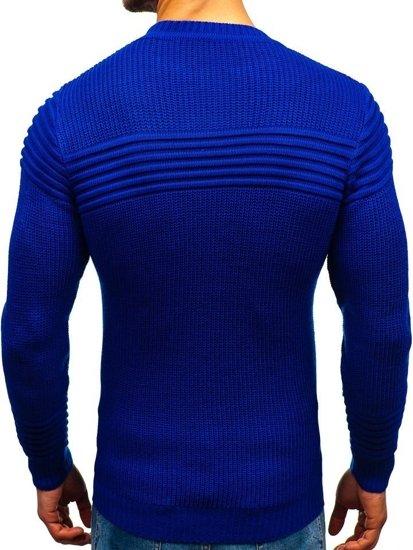 Kobaltový pánsky sveter BOLF 6004
