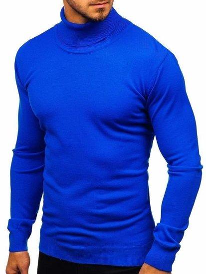 Kraľovský modrý pánsky sveter BOLF 2400
