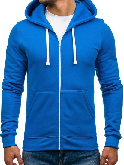 Modrá pánska mikina s kapucňou BOLF 03 dc9e3f1eb9c