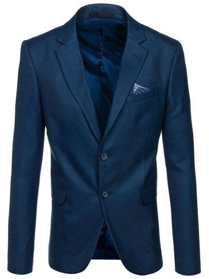 Modré pánske elegantné sako BOLF 2222