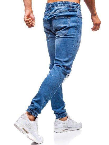Modré pánske riflové jogger nohavice BOLF 2036-1