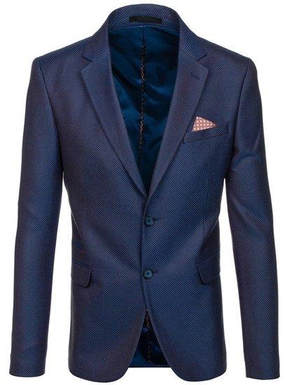 Modro-hnedé pánske elegantné sako BOLF 2222
