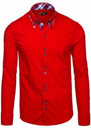 Pánska košeľa BOLF 4704 červená