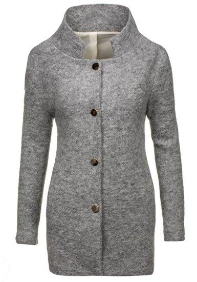 Šedý dámsky kabát BOLF 1950