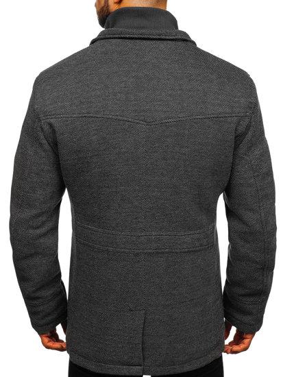 Šedý pánsky kabát Bolf 1977